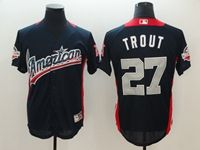 Mens Los Angeles Angels #27 Mike Trout 2018 Mlb All Star Game American League Navy Cool Base Jersey