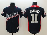 Mens Cleveland Indians #11 Jose Ramirez 2018 Mlb All Star Game American League Navy Cool Base Jersey