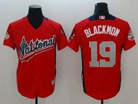 Mens Colorado Rockies #19 Charlie Blackmon 2018 Mlb All Star Game National League Red Cool Base Jersey