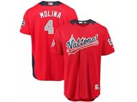 Mens St. Louis Cardinals #4 Yadier Molina 2018 Mlb All Star Game National League Red Cool Base Jersey