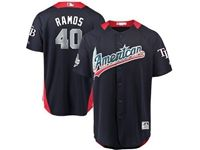 Mens Tampa Bay Rays #40 Wilson Ramos 2018 Mlb All Star Game American League Navy Cool Base Jersey