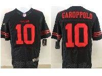 Mens Nfl San Francisco 49ers #10 Jimmy Garoppolo Black Elite Jersey