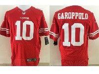 Mens Nfl San Francisco 49ers #10 Jimmy Garoppolo Red Elite Jersey