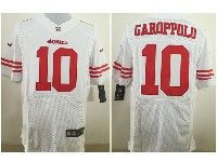 Mens Nfl San Francisco 49ers #10 Jimmy Garoppolo White Elite Jersey