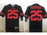 Mens Nfl San Francisco 49ers #25 Richard Sherman Black Elite Jersey
