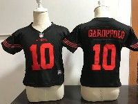 Kids Nfl San Francisco 49ers #10 Jimmy Garoppolo Game Black Jersey