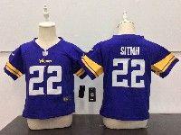 Kids Nfl Minnesota Vikings #22 Harrison Smith Purple Jersey