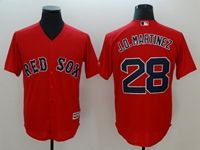 Mens Mlb Boston Red Sox #28 J.d. Martinez Red Cool Base Jersey
