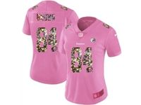 Women Nfl Pittsburgh Steelers #84 Antonio Brown Pink Camouflage Font Love Vapor Untouchable Limited Player Jersey