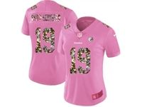 Women Pittsburgh Steelers #19 Smith-schuster Pink Camouflage Font Love Vapor Untouchable Limited Player Jersey
