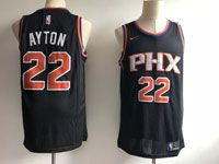 Mens Nba Phoenix Suns #22 Deandre Ayton Black Statement Edition Nike Swingman Jersey