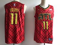 Mens Nba Atlanta Hawks #11 Trae Young Red Nike Statement Edition Jersey
