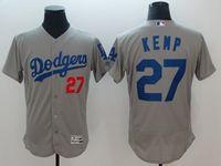 Mens Mlb Los Angeles Dodgers #27 Matt Kemp Gray Flex Base Player Jersey