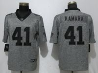 Mens Nfl New Orleans Saints #41 Alvin Kamara Gray Vapor Untouchable Stitched Gridiron Limited Jersey