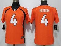 Women Nfl Denver Broncos #4 Case Keenum Orange Vapor Untouchable Limited Player Jersey