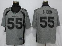 Mens Nfl Denver Broncos #55 Bradley Chubb Gray Vapor Untouchable Stitched Gridiron Limited Jersey