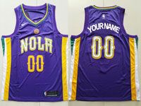 Mens Nike Nba New Orleans Pelicans Custom Made Purple City Swingman Jersey