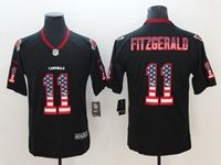 Mens Arizona Cardinals #11 Larry Fitzgerald 2018 Usa Flag Fashion Black Vapor Untouchable Limited Jersey