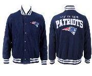 Mens Nfl New England Patriots Dark Blue Heavyweight Embroidered Jacket