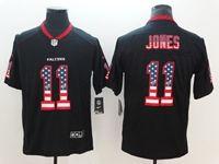 Mens Atlanta Falcons #11 Julio Jones 2018 Usa Flag Fashion Black Vapor Untouchable Limited Jersey