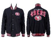 Mens Nfl San Francisco 49ers Black Heavyweight Embroidered Jacket