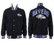 Mens Nfl Baltimore Ravens Black Heavyweight Embroidered Jacket
