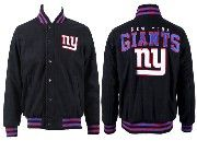 Mens Nfl New York Giants Black Heavyweight Embroidered Jacket