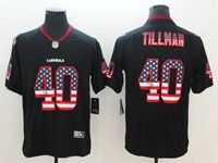 Mens Arizona Cardinals #40 Pat Tillman 2018 Usa Flag Fashion Black Vapor Untouchable Limited Jersey