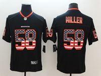 Mens Nfl Denver Broncos #58 Von Miller 2018 Usa Flag Fashion Black Vapor Untouchable Limited Jersey