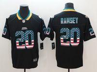 Mens Jacksonville Jaguars #20 Jalen Ramsey 2018 Usa Flag Fashion Black Vapor Untouchable Limited Jersey