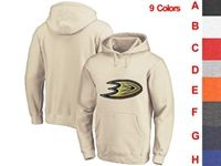Mens Nhl Anaheim Mighty Ducks 9 Colors One Front Pocket Hoodie Jersey