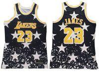 Mens Nba Los Angeles Lakers #23 Lebron James Independent Daily Swingman Hardwood Classics Black Jersey