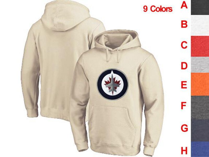 Mens Nhl Winnipeg Jets 9 Colors One Front Pocket Hoodie Jersey