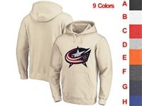 Mens Nhl Columbus Blue Jackets 9 Colors One Front Pocket Hoodie Jersey