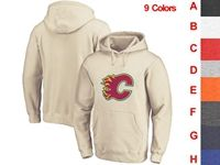 Mens Nhl Calgary Flames 9 Colors One Front Pocket Hoodie Jersey