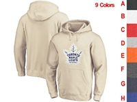 Mens Nhl Toronto Maple Leafs 9 Colors One Front Pocket Hoodie Jersey