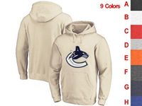 Mens Nhl Vancouver Canucks 9 Colors One Front Pocket Hoodie Jersey