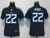 Women Tennessee Titans #22 Derrick Henry Navy Blue 2018 Vapor Untouchable Limited Player Jersey
