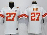 Youth Nfl Kansas City Chiefs #27 Kareem Hunt White Vapor Untouchable Limited Player Jersey