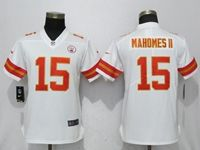 Women Nfl Kansas City Chiefs #15 Patrick Mahomes Ii White 2017 Vapor Untouchable Limited Player Jersey