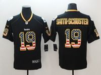 Mens Pittsburgh Steelers #19 Smith-schuster 2018 Usa Flag Fashion Black Vapor Untouchable Limited Jersey