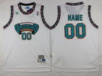 Mens Nba Vancouver Grizzlies Custom Made White Adidas Swingman Jersey