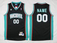 Mens Nba Vancouver Grizzlies Custom Made Black Adidas Swingman Jersey