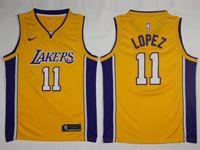 Mens Nba Los Angeles Lakers #11 Brook Lopez Nike Swingman Gold Jersey