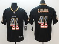Mens New Orleans Saints #41 Alvin Kamara 2018 Usa Flag Fashion Black Vapor Untouchable Limited Jersey