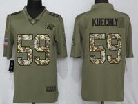 Mens Nfl Carolina Panthers #59 Luke Kuechly Olive Camo Carson 2017 Salute To Service Limited Jersey
