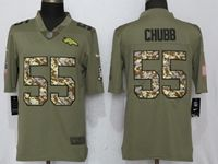 Mens Nfl Denver Broncos #55 Bradley Chubb Luck Olive Camo Carson 2017 Salute To Service Limited Jersey