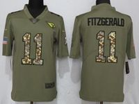 Mens Nfl Arizona Cardinals #11 Larry Fitzgerald Olive Camo Carson 2017 Salute To Service Limited Jersey
