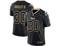 Mens Nfl Los Angeles Rams #30 Todd Gurley Ii 2018 Lights Out Black Vapor Untouchable Limited Jersey