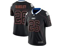 Mens Nfl New York Giants #26 Saquon Barkley 2018 Lights Out Black Vapor Untouchable Limited Jersey